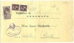 1951 DEMOCR. L. 2 COPPIA + LAVORO L. 6 PIEGO TARIFFA RIDOTTA 23.5.51 PIEDIVIGLIANO BELLA MISTA MONOCROMA (8856) - 6. 1946-.. Repubblica