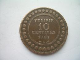 MONNAIE ..TUNISIE 10 Centimes 1907 A.. 2 Scans - Tunesië
