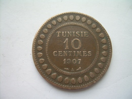 MONNAIE ..TUNISIE 10 Centimes 1907 A.. 2 Scans - Túnez