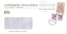 1976 PALESTRINA L. 100+SIRAC. L. 25 COPPIA BUSTA 19.10.76 SPLENDIDA AFFRANCATURA MONOCROMA (8863) - 6. 1946-.. Repubblica