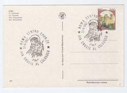1987 Rome CRUCIS AL COLOSSO Religion EVENT COVER Staps (postcard Colosseum) Christianity - Christianity