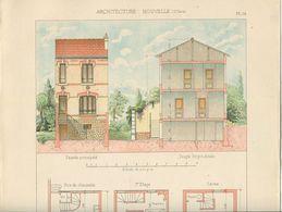 Architecture Planche Couleurs Petite Maison Rue Saint-Quentin Nogent Sur Marne - Architecture