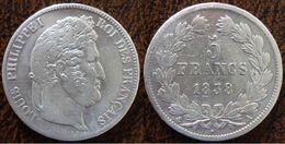 (J) FRANCE: Silver 5 Francs 1838A VF (1542)  SALE!!!! - J. 5 Francos