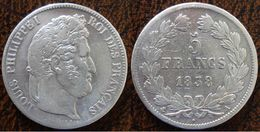 (J) FRANCE: Silver 5 Francs 1838A VF (1542)  SALE!!!! - Francia