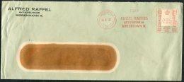 1932 Denmark Kobenhavn Alfred Raffel Franking Machine / Meter Mark Cover - Covers & Documents