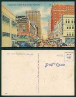 USA [OF #15633] - ADAMS STREET LOOKING WEST - DEFECT FOLDED!!!! - Jacksonville