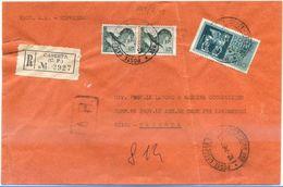 1967 MICHELANGIOLESCA L. 85 COPPIA + ESPRESSO L. 150 BUSTA RACC. 12.7.67 BELLA COMBINAZIONE MONOCROMA (8869) - 1961-70: Storia Postale