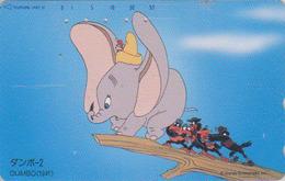 Télécarte Japon / 110-185148 - DISNEY - DUMBO ELEPHANT - Série Film 2/3 - Japan Movie Phonecard Telefonkarte - Disney