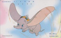 Télécarte Japon / 110-185149 - DISNEY - DUMBO ELEPHANT - Série Film 3/3 - Japan Movie Phonecard Telefonkarte - Disney