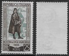 Italia Italy 1953 Signorelli Sa N.725 Nuovo Integro MNH ** - 1946-60: Nuovi