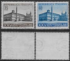 Italia Italy 1954 Patti Lateranensi Sa N.733-734 Completa Nuova Integra MNH ** - 1946-60: Nuovi