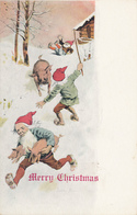 Merry Christmas, -- Elves (Gnomes), Stealing Pigs,  Winter / Snow - Illustrator, A/S Jenny Nyström, - Circa 1900, UDB - Weihnachten