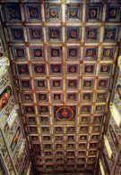 Badia Di Farfa - Basilica - Soffitto Ligneo Con Stemma Orsini Fine 1400 - Formato Grande Non Viaggiata – E 4 - Rieti