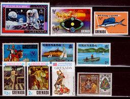 Grenada,1960s, 1970s, Miscellaneous Singles, Unused, One Hinged (450) - Grenada (1974-...)
