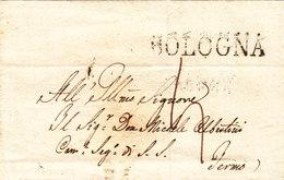 L.S.C. Cachet Linéaire Bologna + Taxe Manuscrite - Italie