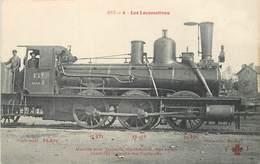 """CPA CHEMIN DE FER / TRAIN / LOCOMOTIVE """"Est, Machine Pour Trains De Marchandises"""" - Trains"""