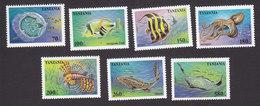 Tanzania, Scott #1404-1410, Mint Hinged, Ocean Life, Issued 1995 - Tanzania (1964-...)