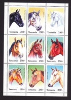 Tanzania, Scott #1430, Mint Never Hinged, Horses, Issued 1995 - Tanzania (1964-...)