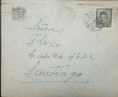 O) 1921 CHILE, O'HIGGINS 60 CTS BLACK, AMBULANCIA-AMBULANTE, N°23, TO SANTIAGO, XF - Chile