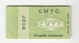 Ticket * Brazil * CMTC - Bus