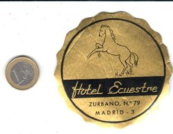 ETIQUETA DE HOTEL  - HOTEL ECUESTRE - MADRID  -ESPAÑA - Hotel Labels