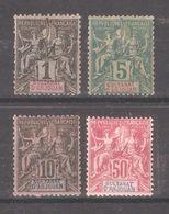 French Anjouan 1892,Navigation & Commerce Sc 1,Sc 4-5,Sc 16,F-VF Mint* (FC-4) - Anjouan (1892-1912)