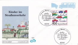 Germany FDC 1997 Kinder Im Strassenverkehr (DD14-32) - Other (Earth)