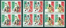 INDONESIE N° 1225 / 1227 En Blocs De 4 Neufs Xxfoot Coupe Du Monde 1990.cote : 14 €. - 1990 – Italië