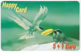 AUSTRIA E-606 Prepaid GlobalLine - Painting, Animal, Bird, Swallow - Used - Austria