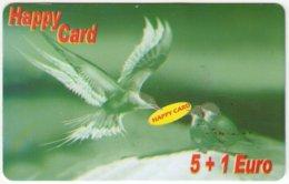 AUSTRIA E-607 Prepaid GlobalLine - Painting, Animal, Bird, Swallow - Used - Austria