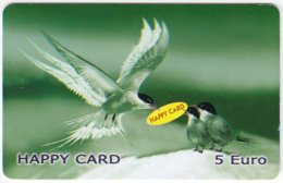 AUSTRIA E-609 Prepaid GlobalLine - Painting, Animal, Bird, Swallow - Used - Austria