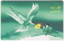 AUSTRIA E-613 Prepaid GlobalLine - Painting, Animal, Bird, Swallow - Used - Austria