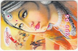 AUSTRIA E-616 Prepaid GlobalLine - Painting, Traditional Woman - Used - Austria