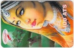 AUSTRIA E-620 Prepaid GlobalLine - Painting, Traditional Woman - Used - Austria