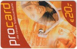 AUSTRIA E-699 Prepaid ProCard - People, Couple - Used - Austria