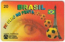 BRASIL F-786 Magnetic Telebras - Sport, Event, Soccer, World Cup - Used - Brazil
