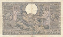 H17 - Billet - 100 FRANCS - BANQUE NATIONALE DE BELGIQUE - 1937 - [ 2] 1831-... : Belgian Kingdom