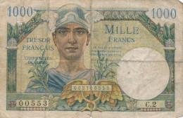 H17 - Billet - 1000 FRANCS - TRÉSOR FRANÇAIS - 1947 - Treasury