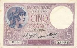 H17 - Billet - 5 FRANCS VIOLET TYPE 1917 - 1871-1952 Antichi Franchi Circolanti Nel XX Secolo