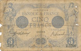 H17 - Billet - 5 FRANCS BLEU TYPE 1912 - 1871-1952 Anciens Francs Circulés Au XXème