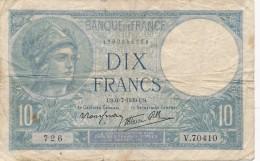 H17 - Billet - 10 FRANCS MINERVE 1939 - 1871-1952 Antichi Franchi Circolanti Nel XX Secolo