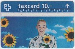 SWITZERLAND A-995 Hologram PTT - People, Woman, Plant, Sunflower - 506A - Used - Switzerland