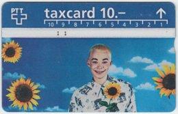 SWITZERLAND A-996 Hologram PTT - People, Woman, Plant, Sunflower - 506B - Used - Switzerland