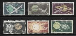 TCHECOSLOVAQUIE 1963 ESPACE  YVERT N°1268/73  NEUF MNH** - Space