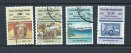 Cocos Keeling Island 1989 Aerial Survey Anniversary Set Of 4 FU - Cocos (Keeling) Islands