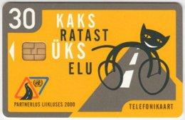 ESTONIA A-132 Chip EestiTelefon - Cartoon, Animal, Cat - Used - Estonia