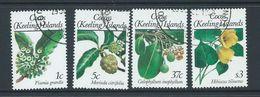 Cocos Keeling Island 1988 Flower Definitives First Issued 4 Values 1c -> $3 FU - Cocos (Keeling) Islands