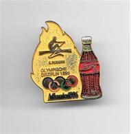 RARE PINS COCA COLA JEUX OLYMPIQUES ATLANTA 1996  N°5 AVIRON  OLYMPISCHE DISZIPLIN 1896 / Signé TIM 1992 ACOG /33NAT - Coca-Cola