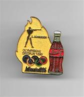 RARE PINS COCA COLA JEUX OLYMPIQUES ATLANTA 1996 N°2 TIR SCHIESSEN  OLYMPISCHE DISZIPLIN 1896 /Signé TIM 1992 ACOG/33NAT - Coca-Cola