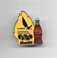 RARE PINS COCA COLA JEUX OLYMPIQUES ATLANTA 1996 N°10 VOILE SEGELN  OLYMPISCHE DISZIPLIN 1896 /Signé TIM 1992 ACOG/33NAT - Coca-Cola